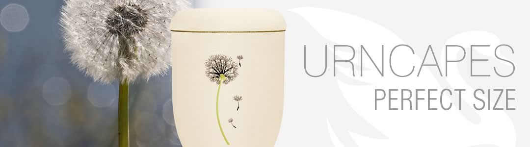 Urnen Urncapes Banner Stickmotiv Pusteblume