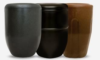 Handelsübliche Aschkapseln Urnen