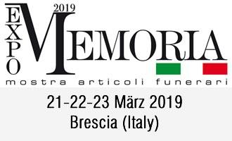 Urnen Urncapes auf Memoria Expo Brescia
